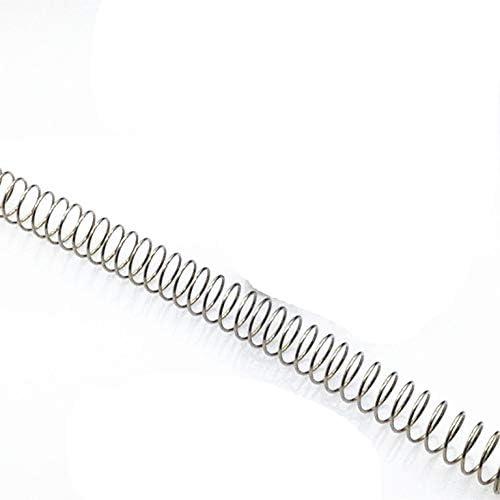 ZZB-LSTH, 1pc Metall Edelstahl Lange Schraubendruckfeder, 2,5 mm Drahtdurchmesser X (16-30) mm Out Durchmesser X 300 mm Länge (Color : 1pc, Size : 2.5x28x300mm)