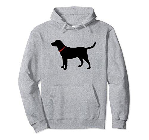 Unisex Labrador Retriever Hoodie Black Lab Lover Large Heather (Retriever Adult Sweatshirt)
