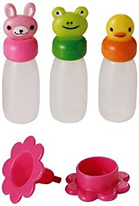 CuteZCute Bento Soy Sauce Case Container with Funnel