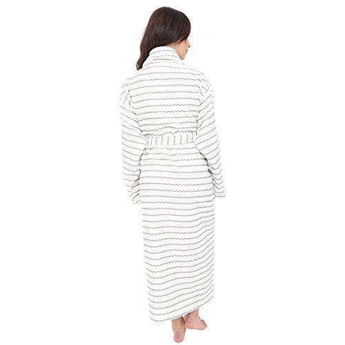 Artemis Mens and Ladies Unisex Luxury Towelling Bathrobe Dressing Gown.  Cream Grey Stripe. S M L XL  Amazon.co.uk  Clothing be5494d08