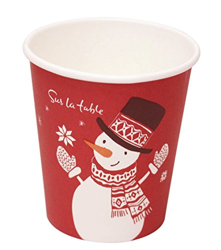 QuaCity Disposable Holiday Party Hot & Cold Coffee Paper Cups 7 Ounce (50, (7 Oz Hot Cold Cup)