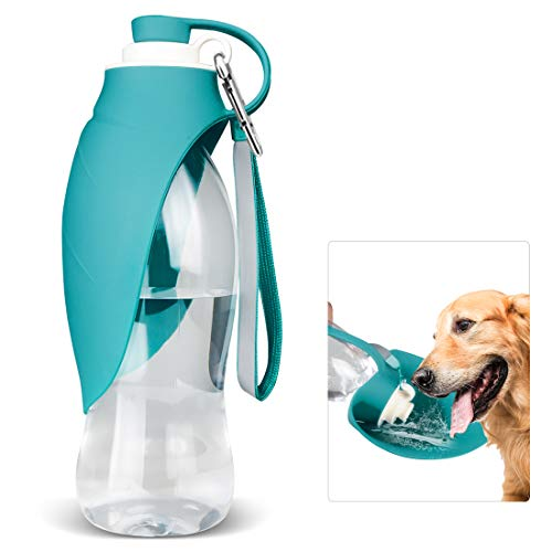 TIOVERY Dog Water Bottle for Walking, Pet Water Dispenser Feeder Container Portable with Drinking Cup Bowl Outdoor Hiking, Travel for Puppy, Cats, Hamsters, Rabbits and Other Small Animals 20 OZ