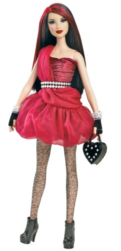 Barbie All Dolled Up Stardoll Brunette Doll Red Dress   Mix And Match Trendy  Original Fashions And Accessories