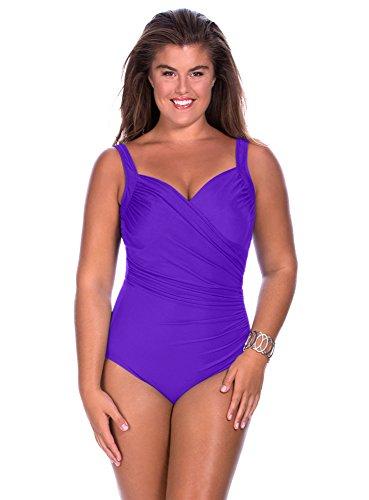 Swimsuit 1 Piece Miraclesuit Sanibel Women Bonnet B a G Violet