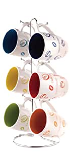 Home Basics MS30106 6-Piece Mug with Coffee Stand