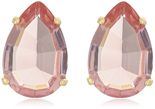 t-tahari-gold-tear-drop-light-rose-stud-earrings