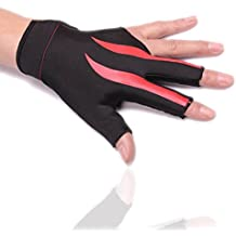 Greatstar Billiards Gloves Wear-resisting 3 Fingers Gloves for Snooker Cue Sport,The first choice of billiards players (Wear on the Left Hand 1PCS)