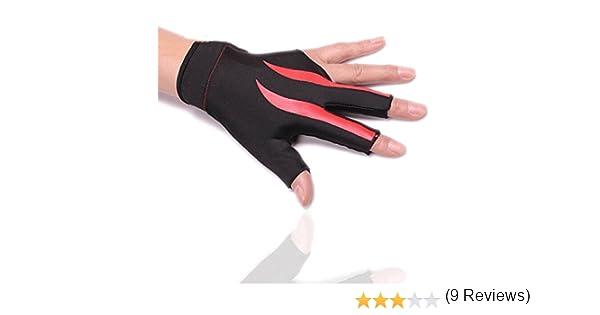 HIMM resistente al desgaste Guantes de 3 dedos para billar deporte ...