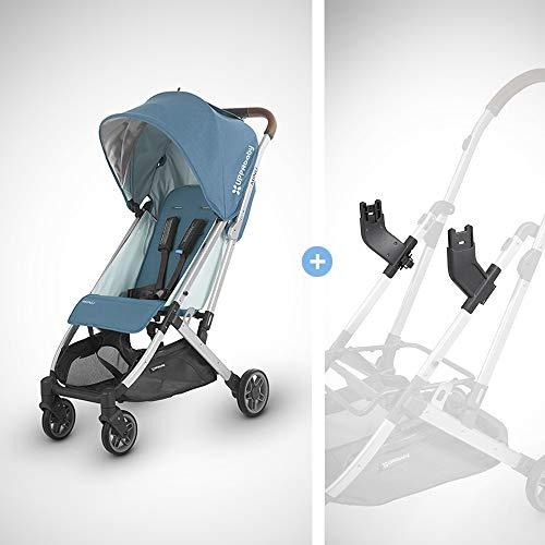 UPPAbaby MINU Stroller + MESA Adapter – Ryan (Teal Melange/Silver/Saddle Leather)