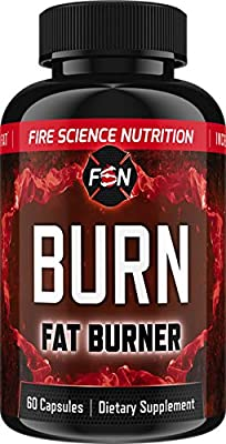 Fire Science Nutrition Fat Burner: Weight Loss Pills with Garcinia Cambodia Extract + Appetite Suppressant + Green Tea Extract + Belly Fat Burner While Preserving Muscle – 30 Day Supply