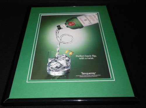 1993-tanqueray-gin-backflip-framed-11x14-original-advertisement