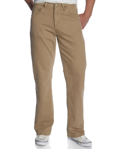 Wrangler Genuine Men's Regular Fit Jean,British Khaki,36x30 - Mens Brown Wrangler