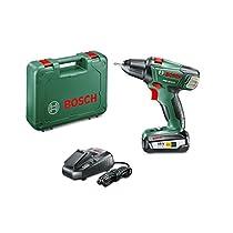 Bosch 060397330G - Taladro atornillador a batería de litio, 2 velocidades, 18 V, 45 W, color negro y verde