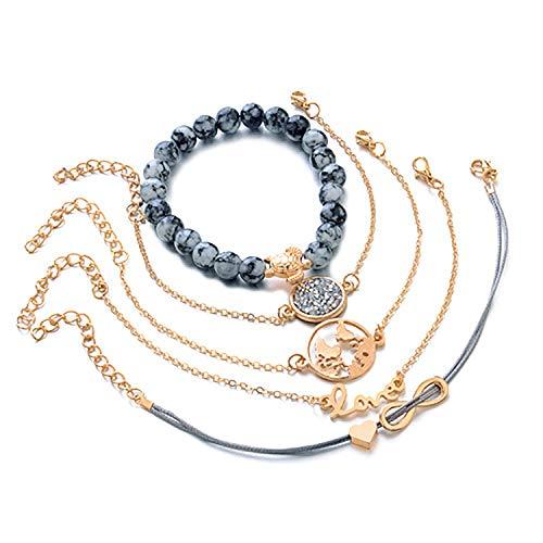 Bracelets Bangles for Gold Color Strand Bracelets Sets Jewelry Party Gifts one Sets