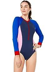 Speedo Women's Endurance+ Paddle Suit, Navy/Speed/Cupid