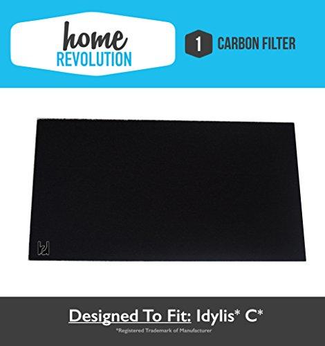 Idylis C Home Revolution Brand Replacement Carbon Filter; Fits Idylis Air Purifiers IAP-10-200 & IAP-10-280, Compare to Part # IAFH100C, IAF-H-100C & 302656