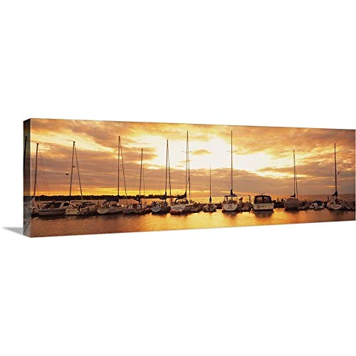 (GREATBIGCANVAS Gallery-Wrapped Canvas Entitled Sunset Egg Harbor Door County Wisconsin by 60
