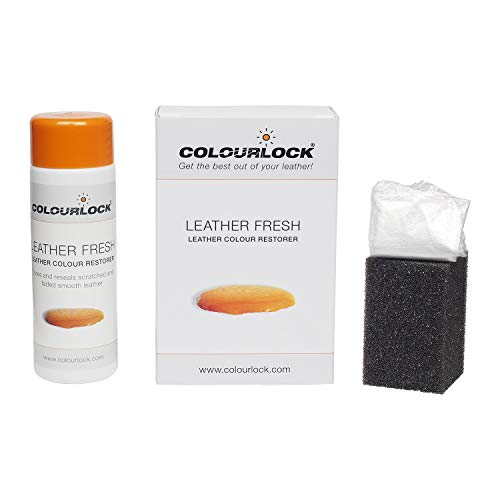 COLOURLOCK Leather Fresh dye is a DIY Repair Color, dye, restorer for scuffs, small cracks on car seats, sofas, bags, settees and clothing (150 ml, F034 - Black)