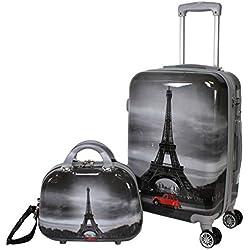World Traveler Destination Collection 2-Piece Carry-On Luggage Set, Paris