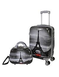World Traveler Destination Collection 2-Piece Luggage Set, Paris