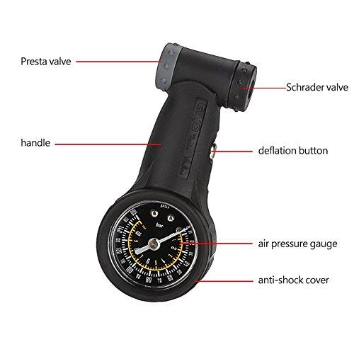 Vbestlife Road Mountain Bike Tire Air Pressure Gauge 0-160PSI Bicycle Repair Tool Cycling Accessory by Vbestlife (Image #1)