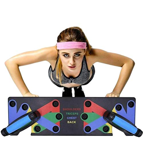 Portable Fitness Push Up Board Multifunctional Muscle Training 9-in-1 System Indoor Arm Training Equipment Outdoor…