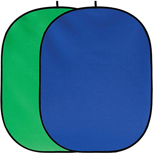 Fancierstudio Chromakey Green Chromakey Blue Collapsible Backdrop Collapsible Reversible Background 5'x7' Chroma-Key Blue/Green by Fancierstudio RE2010 BG