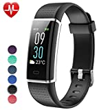 Willful Fitness Tracker,Fitness Watch Activity Tracker with Heart Rate Monitor Watch, IP68 Waterproof Sleep Monitor Step Counter 14 Sport Modes,Pedometer for Women Men Kids (Color Screen,2018 Ver)