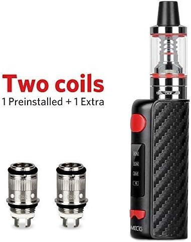 cigarrillo electrónico B1 80W E Cigarrillo Vape Mod con batería recargable 1500 mAh Repuestos de la parte inferior Vape Pen No E Líquido sin nicotina (Negro): Amazon.es: Salud y cuidado personal