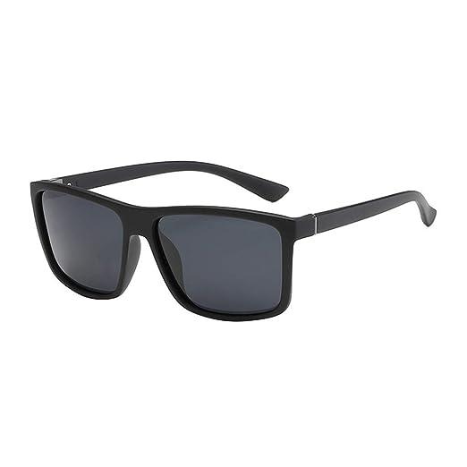 840c4ebdc604 Sunglasses for Men, F_Gotal Men's Polarized Square Aviator Sunglasses  Classic Box Metal Frame for Cycling Driving Black at Amazon Men's Clothing  store: