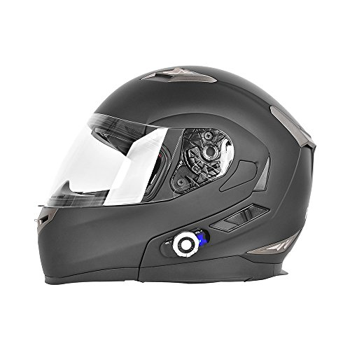 Motorcycle Helmets,FreedConn Flip up Dual Visors Full Face ...