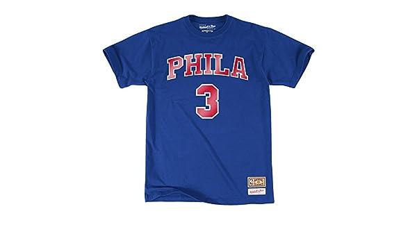 NBA Philadelphia 76ers Allen Iverson y nombre del jugador número de camiseta (baloncesto) Talla:XL: Amazon.es: Deportes y aire libre
