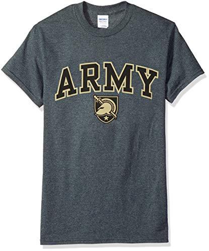 (Elite Fan Shop NCAA Men's Army Black Knights T Shirt Dark Heather Arch Army Black Knights Dark Heather Medium)