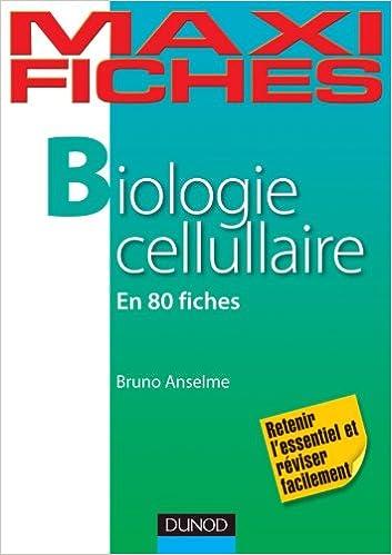 Livre gratuits en ligne Maxi Fiches de Biologie cellulaire - 80 Fiches epub, pdf
