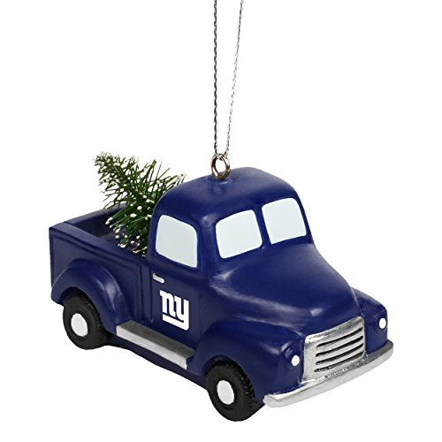 New York Giants NFL Team Logo Truck With Tree Holiday Tree Ornament
