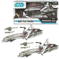 Hasbro Star Wars 3.75 Battle Pack:Clone Wars Speeder Bike Recon