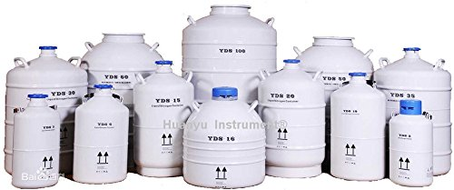 35L Cryogenic Container Liquid Nitrogen LN2 Tank with Straps and Carry Bag for Storage