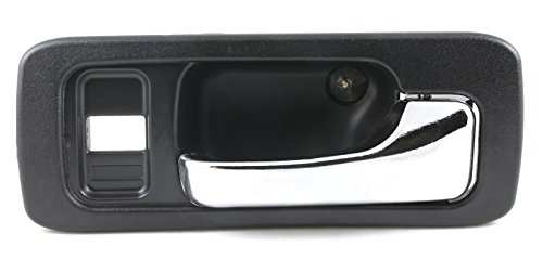 Eynpire 8114 Front Right Passenger Side Interior Inside Door Handle Black Housing with Chrome Lever For 1990 -1993 Honda Accord 4 Door Sedan (1993 Honda Accord Right Door)