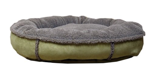 Cpc Faux Suede & Tipped Berber 27-Inch Round Comfy Cup, - Berber Dog Bed