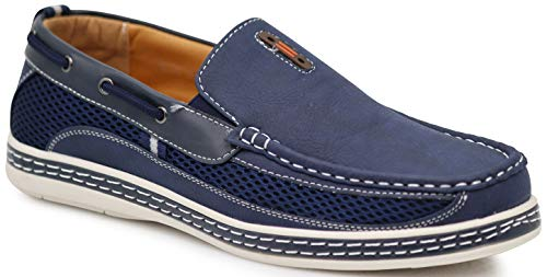 0cc95f036a4f Enzo Romeo DC9CO Men's Fall Summer Light Weight Casual Fit Classic Fashion  Slip On Loafers Boat Shoes (10.5 D(M) US, Navy Blue)