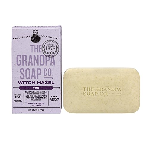 Grandpa's Witch Hazel Bar Soap Soft and Gentle, 4.25 Ounce
