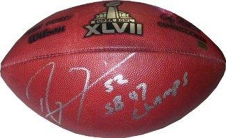 Autographed Ray Lewis Football - New Duke Super Bowl XLVII SB 47 Champs ) -  Autographed d83f54744