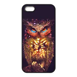 Personalized Vintage Solid Silicone Material iPhone 5s Cover Magic Owl Design Cases for iPhone 5 5s Fashion