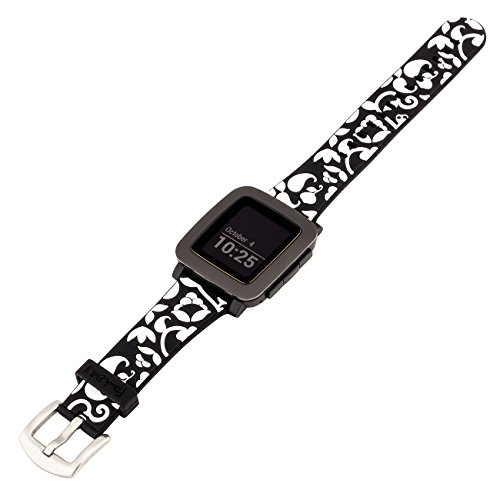 French Bull Pebble Watch Band – Black Vines – French Bull Designer Band for use with Pebble Time and Pebble Watch, Smartwatch band Review