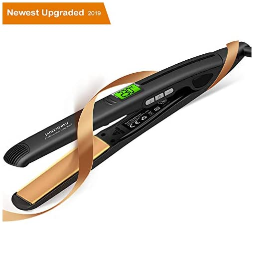 Flat Iron for Hair,【2019 Upgraded】Hair Straightener with Digital Display&Dual Voltage,2in1 Ceramic Ionic Hair Styling Iron,15s Instant Heat,11 Adjustable Temperature Settings,Auto Shut Off,1 inch  - 41lTffZ EzL - Auklion Flat Iron for Hair,【2019 Upgraded】Ceramic Hair Straightener Dual Voltage 2in1 Ionic Curling Iron, Professional Digital Hair Styling Iron 11 Temp Settings 10s Instant Heat,Auto Shut Off,1 inch