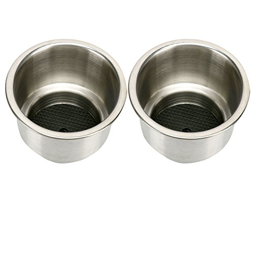 Amarine-made 2pcs Stainless Steel Cup Drink Holder with Drain Marine Boat Rv Camper by Amarine-made (Image #1)