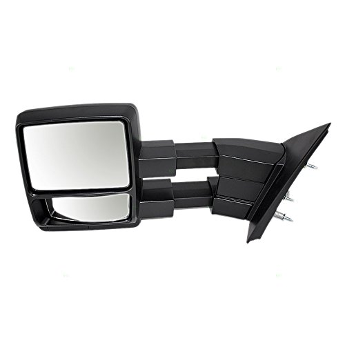 Drivers Manual Side Tow Mirror Telescopic Dual Arms Replacement for Ford F-150 Pickup Truck 9L3Z17683AC