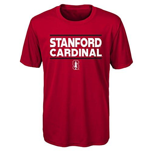 (Gen 2 NCAA Stanford Cardinal Youth Boys Short Sleeve Performance Tee, Youth Boys Medium(10-12), Dark Red)