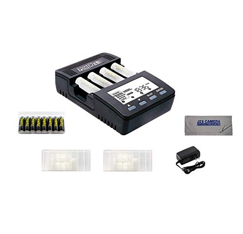 - Powerex MH-C9000 WizardOne Charger-Analyzer for 4 AA/AAA + Powerex MH8AAPROBH [2700mAh, 1.2V] Pro AA Low Self Discharge Precharged 8-Pack + 2 AA 8-Pack Holders + JZS Cloth Kit