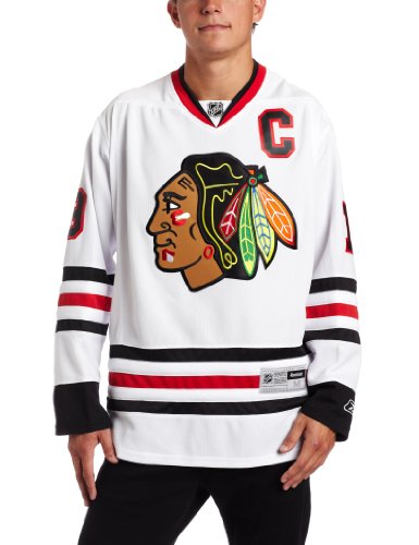 NHL Chicago Blackhawks #19 Jonathan Toews Reebok Edge Premier Player Jersey (White, XX-Large)